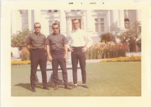 Bob Townsend, Ed Hawkins and Tim Sommer in front of the Fresno Courthouse