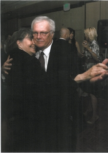 Danny & his wife Lenore share a dance together at a social event.